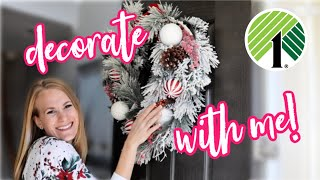 *NEW* DECORATE + CLEAN WITH ME FOR CHRISTMAS! 🎄$1 Dollar Tree Ideas!