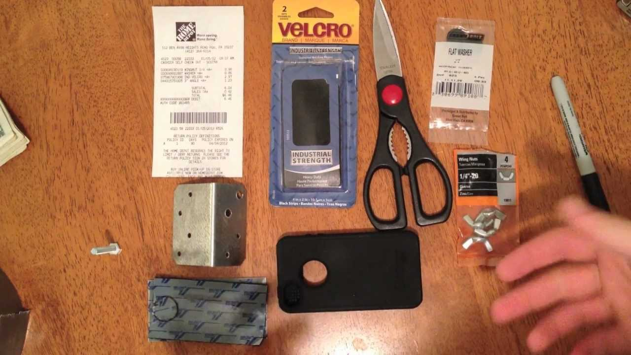 DIY Homemade iPhone Tripod Mount - YouTube