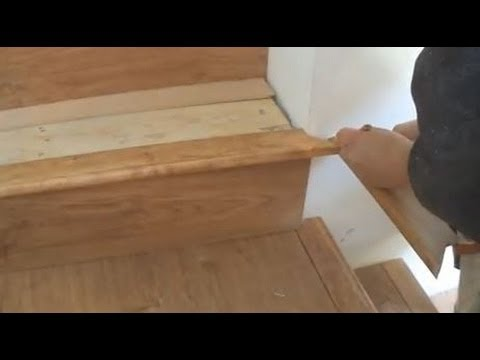 Installing Laminate On Stairs Stair Tread And Nosing Installation