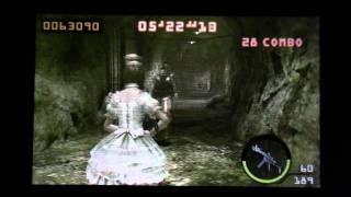 Biohazard The Mercenaries 3D MISSION LEVEL 5-4 SOLO 245,944 Rebecca