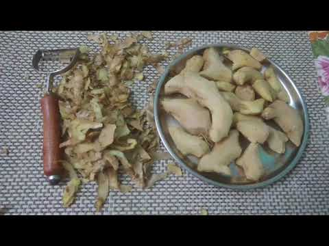 Quick & Easy way to peel ginger ll how to peel or clean ginger easily