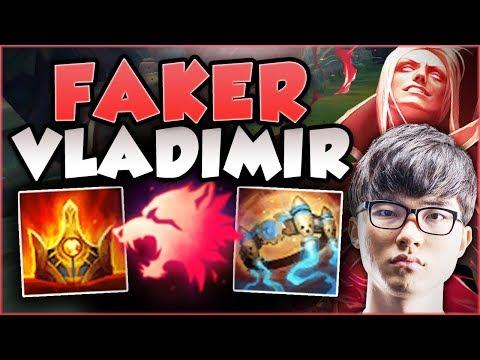 JUST HOW BROKEN IS FAKER'S NEW VLAD BUILD? VLADIMIR SEASON 8 TOP GAMEPLAY! - League of Legends