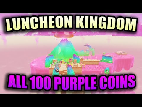 Super Mario Odyssey: Luncheon Kingdom - All 100 Purple Coins Locations Guide | Walkthrough!