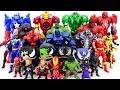 Power Rangers & Marvel Avengers Toys Pretend Mainkan | Super Hero Vs Hulk Red Hulk Army