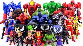 Power Rangers & Marvel Avengers Toys Pretend Play | Super Hero vs Hulk Red Hulk Army