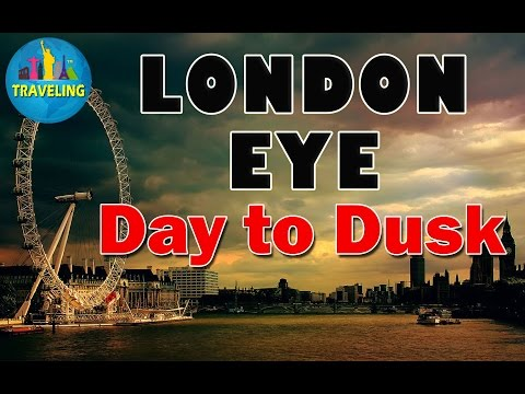 London Eye, From day to dusk Beautiful Short Clips in London, England, UK