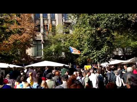 Protesta ante los registros policiales en la sede de la conselleria