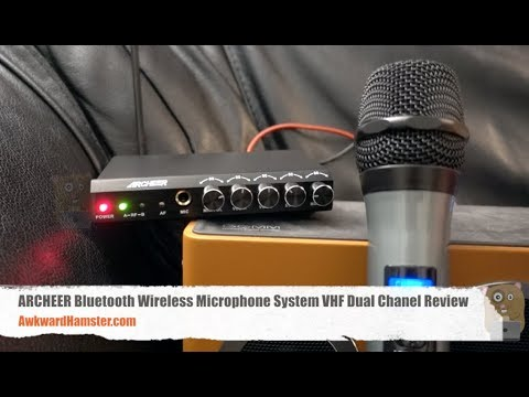 archeer bluetooth wireless microphone system vhf dual chanel review youtube. Black Bedroom Furniture Sets. Home Design Ideas