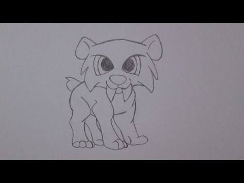 How to draw a saber-toothed tiger