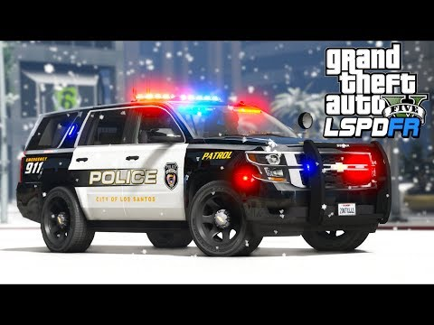 Police station under ATTACK in the blizzard!! (GTA 5 Mods - LSPDFR Gameplay) thumbnail