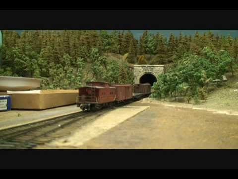 Large HO Scale Model Train Layout