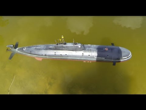 1/96th Scale Russian Akula Submarine for R/C