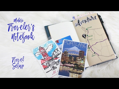 Midori Traveler's Notebook - Travel Setup (Road Trip)