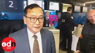 Cambodian Opposition Leader Refused Boarding his flight form Paris to Cambodia