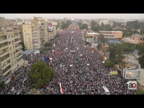 Huge turnout at Egypt's Presidential Palace protest مئات الآلاف في مظاهرة الاتحادية
