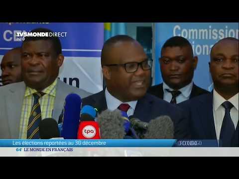 Présidentielle RDC : report officiel au dimanche 30 décembre annoncé par la CENI