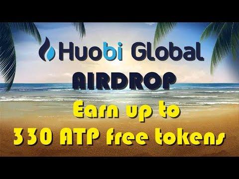 Huobi Airdrop - до 330 ATP Tokens бесплатно. Криптовалюта без вложений.
