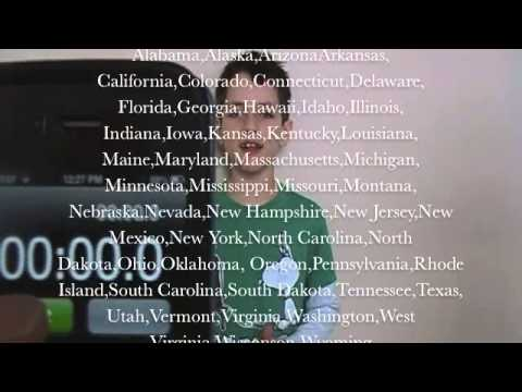 50 states that rhyme 30.9 sec 8 year old