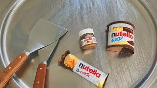 Ice Cream Rolls - nutella spread, nutella B-ready and nutella &GO! chocolate ice cream thai food thumbnail