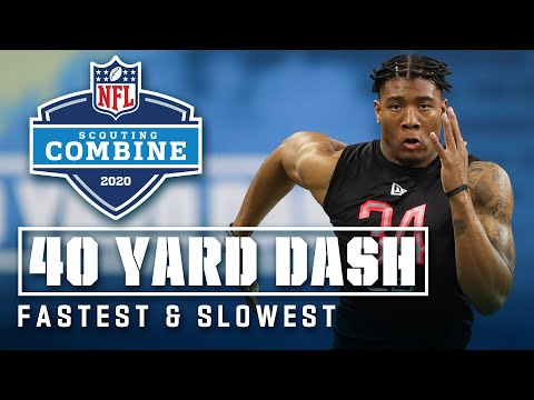 Fastest & Slowest 40-Yard Dashes At The 2020 NFL Scouting Combine