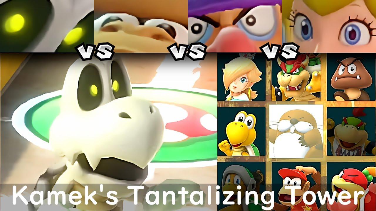 Super Mario Party Dry Bones vs Donkey Kong vs Waluigi vs Peach #50