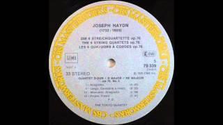 haydn, String Quartet In D Major, Op  76, No  5 , Tokyo String Quartet