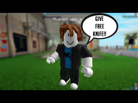 Roblox Backstabbing Knife Of Madness E Free Roblox Begging For Knives On My Birthday Social Experiment Roblox Assassin Youtube