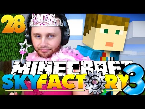 Minecraft: SkyFactory 3 - PRETTY PRINCESS AND PRESENTS?! [28]