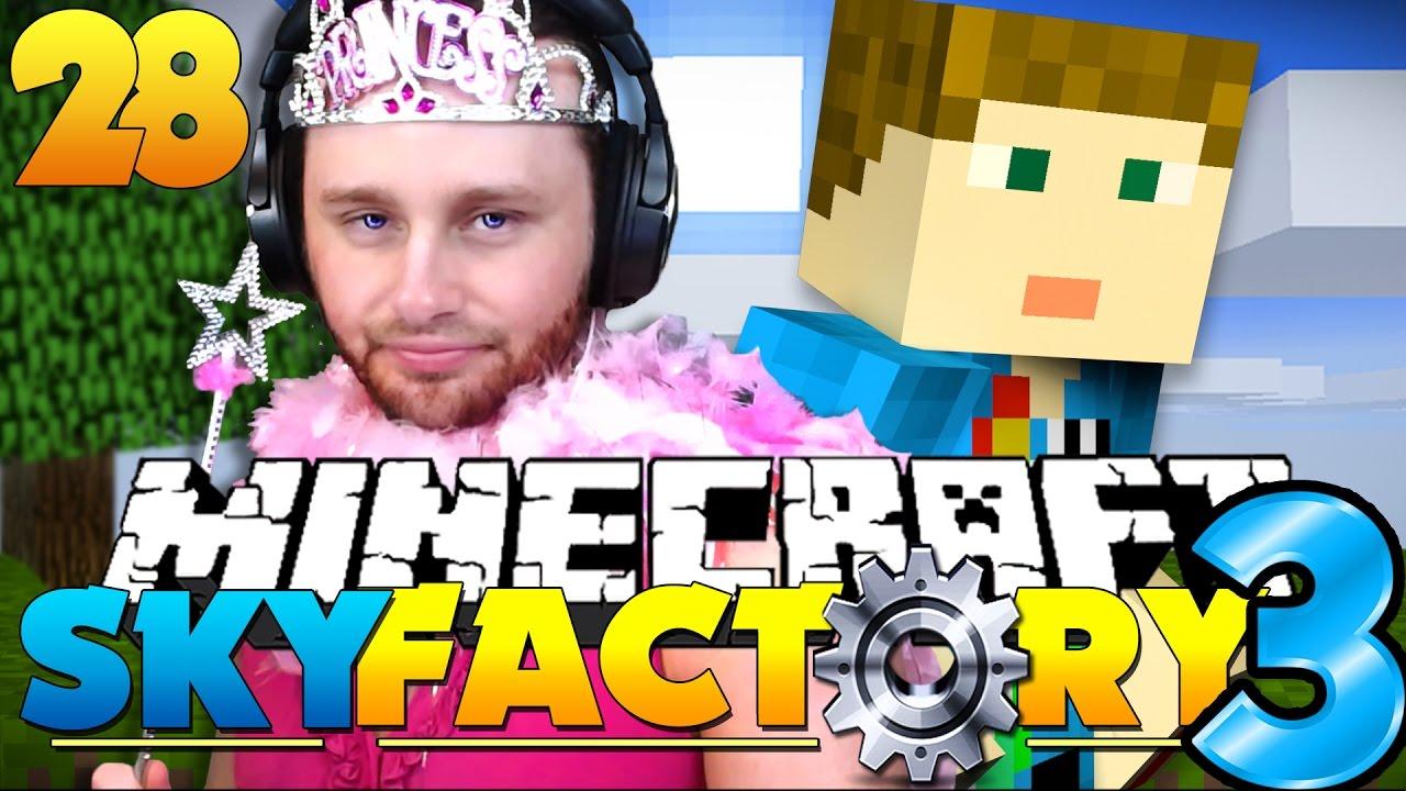 Minecraft: SkyFactory 3 - PRETTY PRINCESS AND PRESENTS?! [28] - YouTube