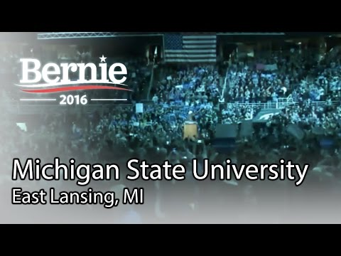 Bernie Sanders @ Michigan State University in East Lansing, MI (Mar 2) *Recorded Livestream*