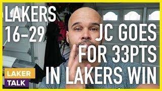 Lakers Get a WIN!!...Yessir!...Jordan Clarkson 33pts, 7 & 7 #LakerTalk