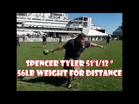 """SPENCER TYLER 51'1/12 """" 56lb Weight For Distance (2019-02-16)"""