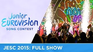Junior Eurovision Song Contest 2015: Full Show