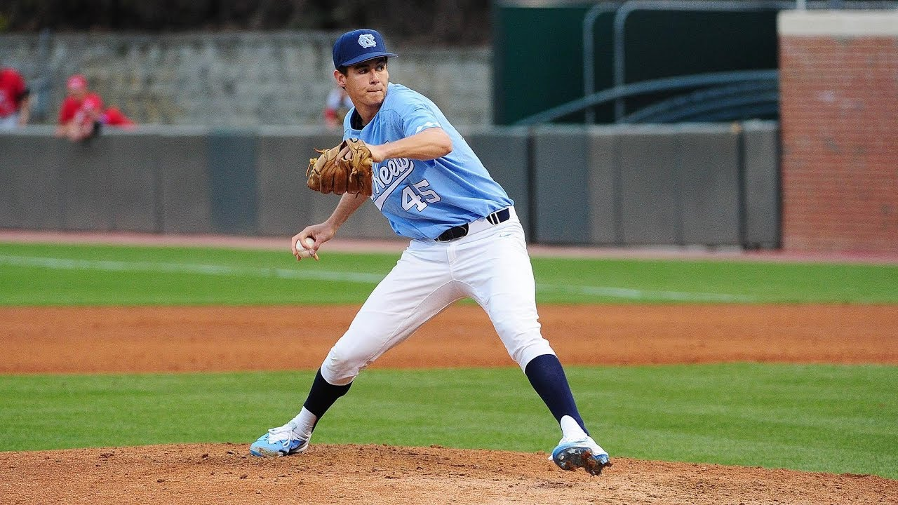 unc baseball: bergner tosses a gem as heels clinch series over