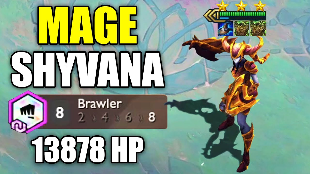 3 STAR MAGE SHYVANA ⭐⭐⭐ with 8 Brawler gets 14k HP! (TFT Festival of Beasts Set 4.5)