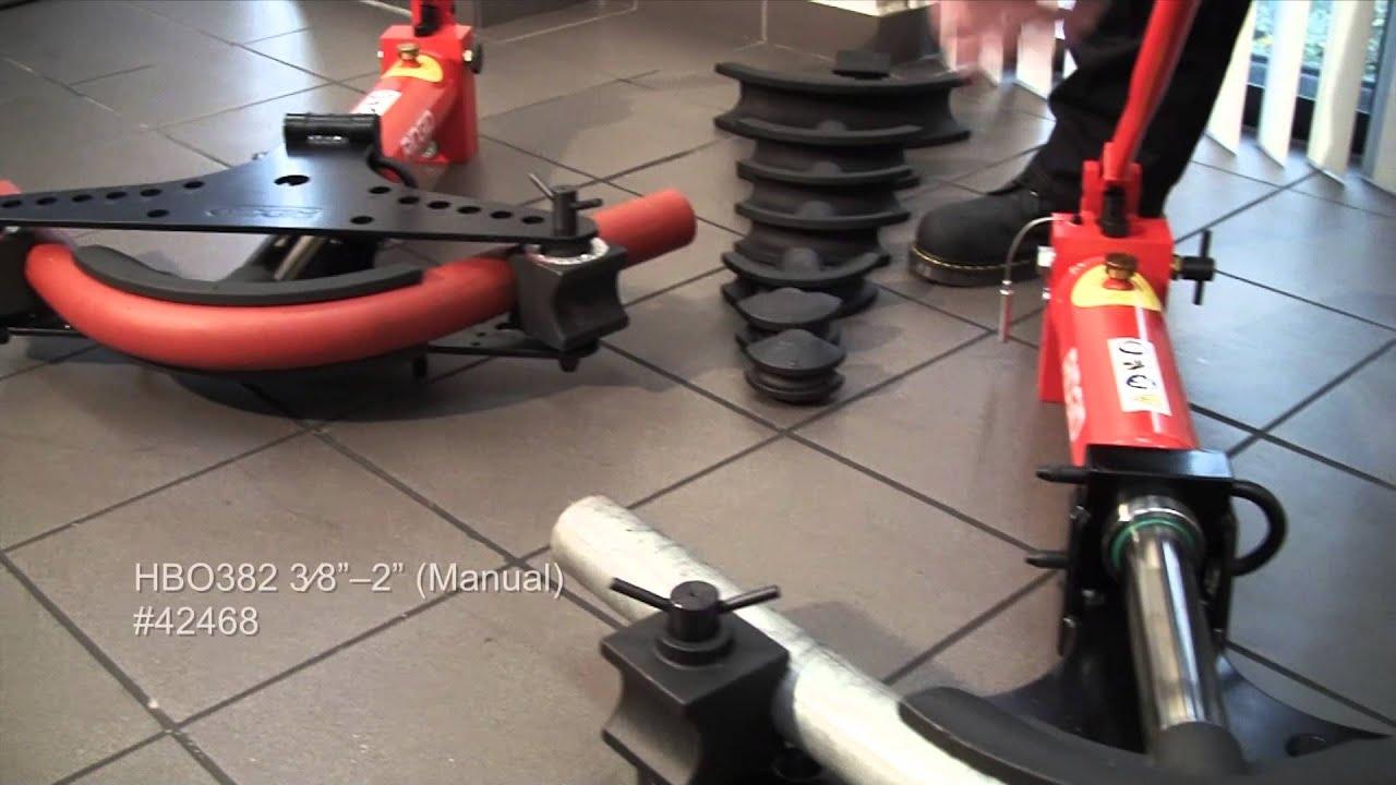 RIDGID - Hydraulic Pipe Benders - YouTube