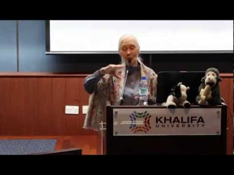 Prof. Jane Goodall In Abu Dhabi @ Khalifa University