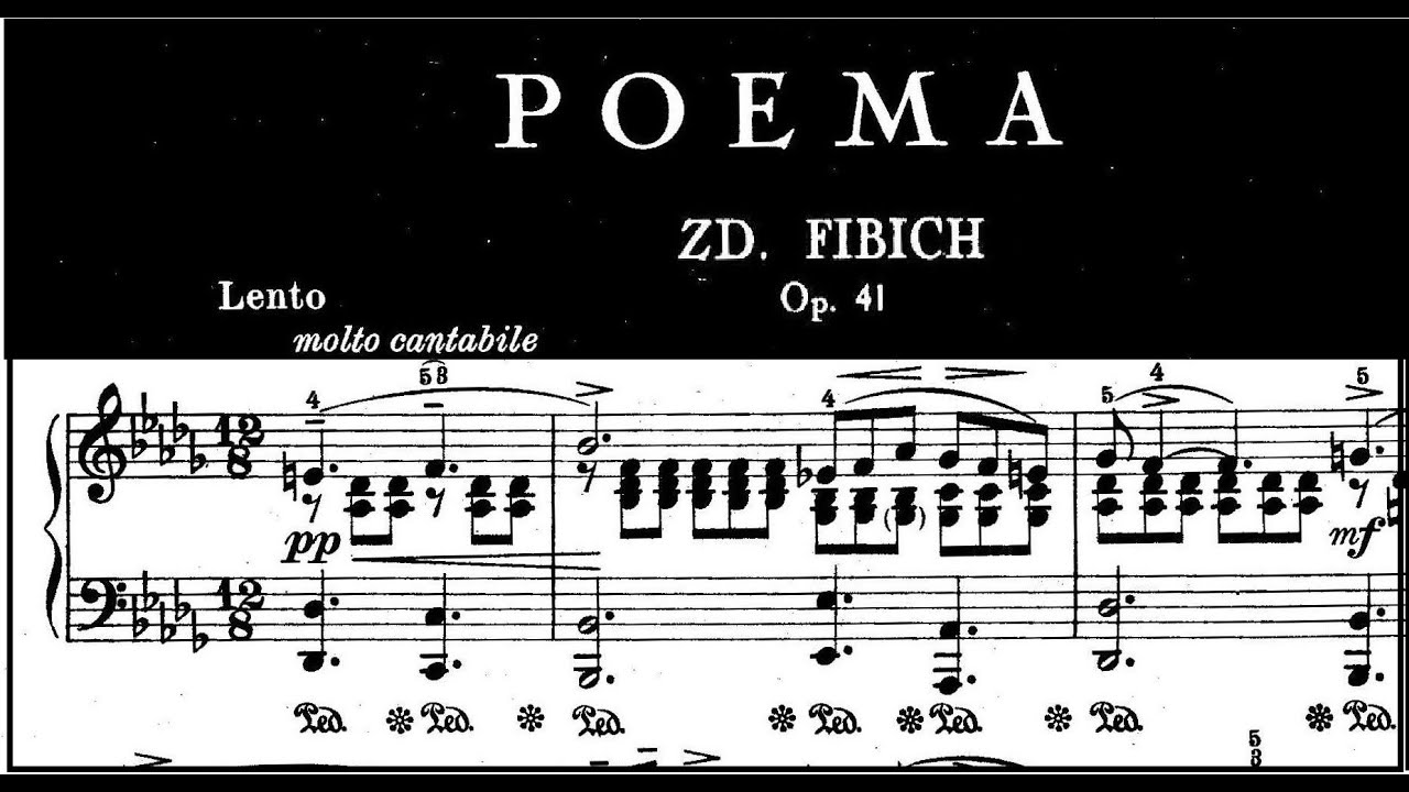 Great Adagios Zdeněk Fibich Poem Op 41 Nr 4 Riccardo Caramella Piano