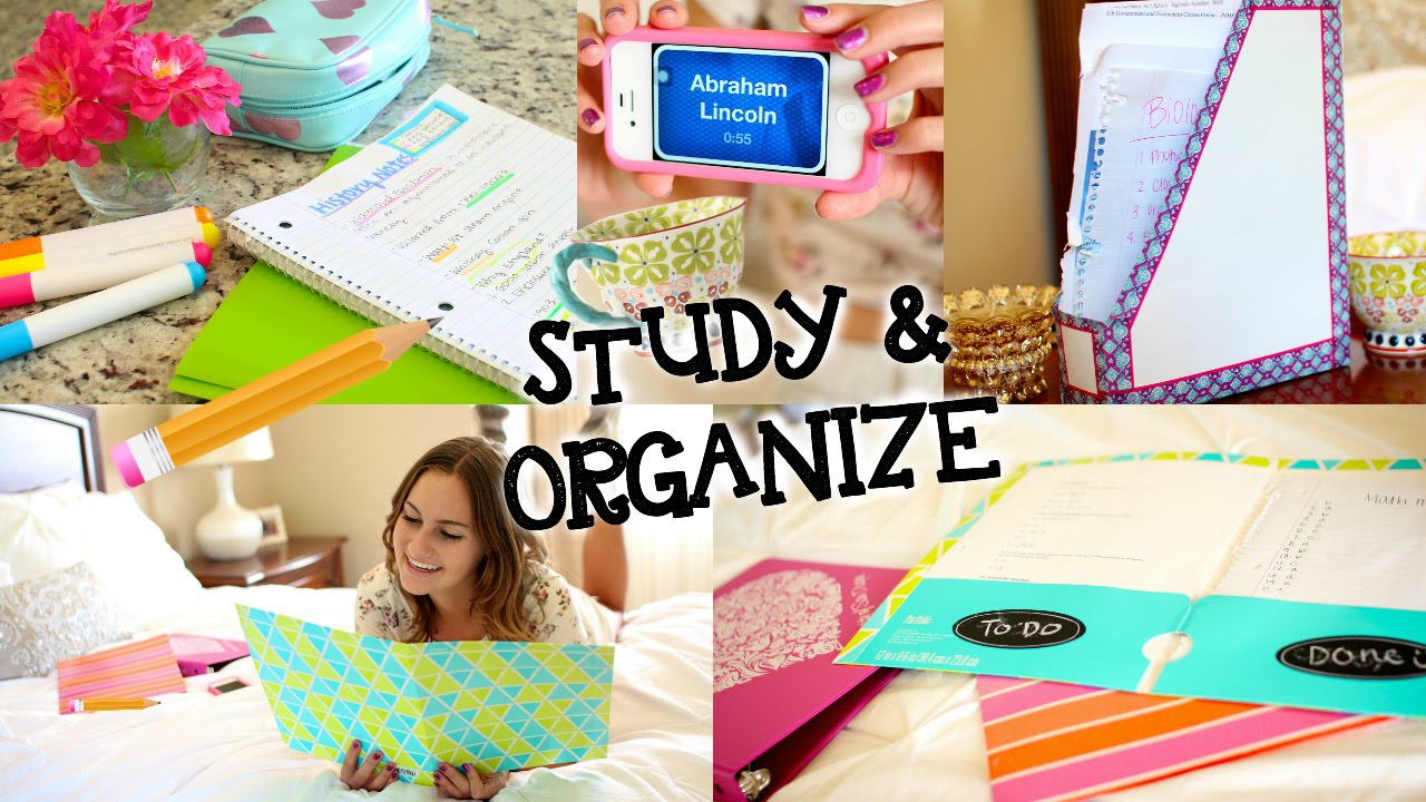 study tips diy organization for back to school youtube