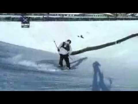 Henri oreiller Vs  Ted Ligety Whistler British Columbia Crash