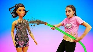 Барби собирает Терезу на СВИДАНИЕ! Мультики для девочек. Салон красоты для кукол