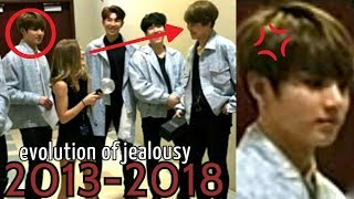 when jungkook is jealous and angry | evolution of jealousy [2013-2018] JIKOOK (KOOKMIN)