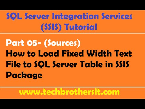 Ssis tutorial part 05 how to load fixed width text file to for Table th fixed width