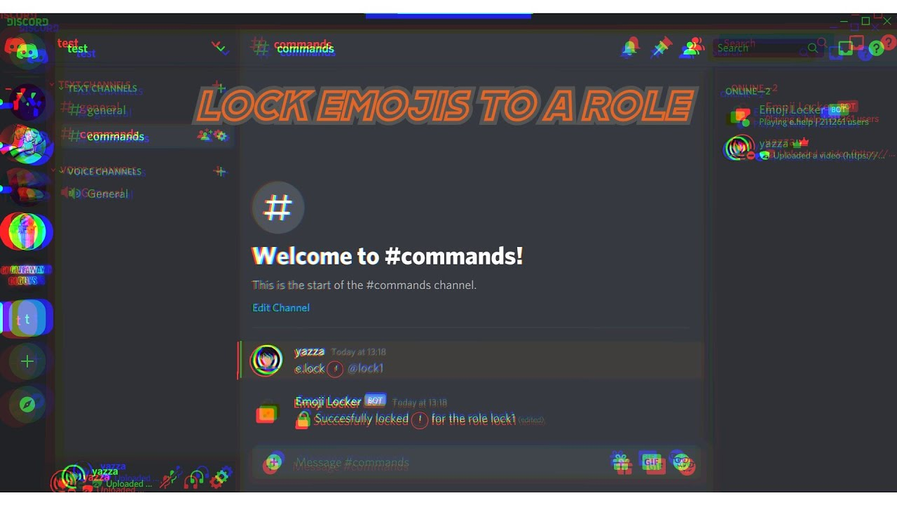 Discord Servers In Roblox How To Get 5 Robux Easy How To Lock Emojis In Your Discord Server Easy Tutorial Youtube