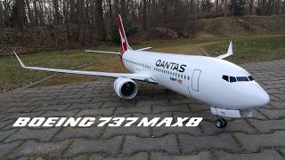 Video Boeing 737 MAX8 Qantas Airlines RC airplane preview video download MP3, 3GP, MP4, WEBM, AVI, FLV Agustus 2018