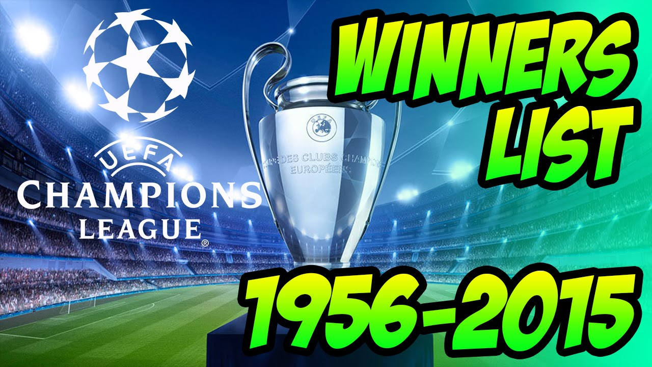 champions league cup winners list