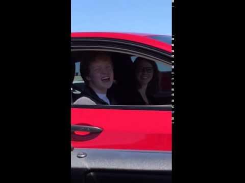 Ginger singing to me at stoplight
