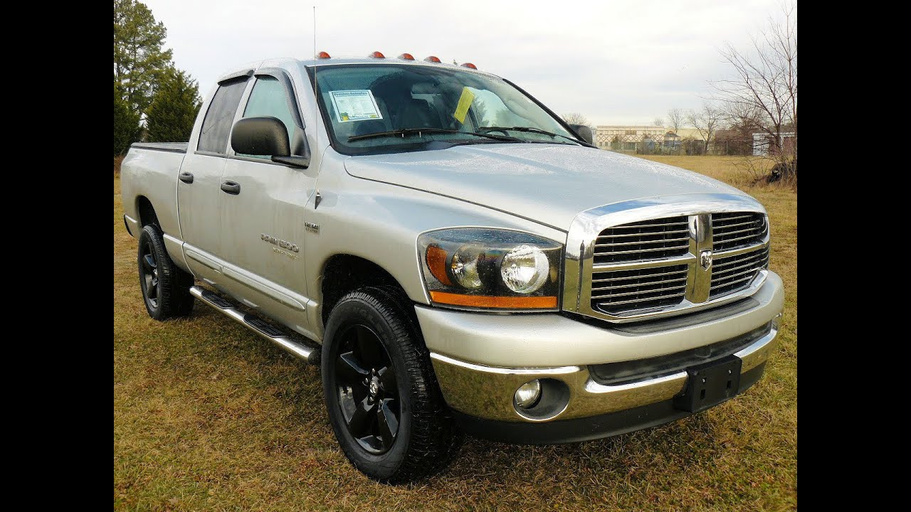 Cheap Trucks For Sale 2006 Dodge Ram 1500 4wd Hemi V8