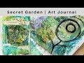 Secret garden   Art Journal   Tutorial
