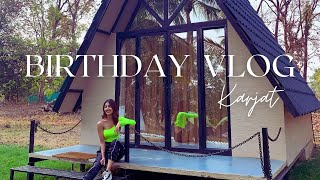 My Birthday Vlog | We Went Glamping At These Newly Made Forest Cabins In Karjat | Jinal Inamdar